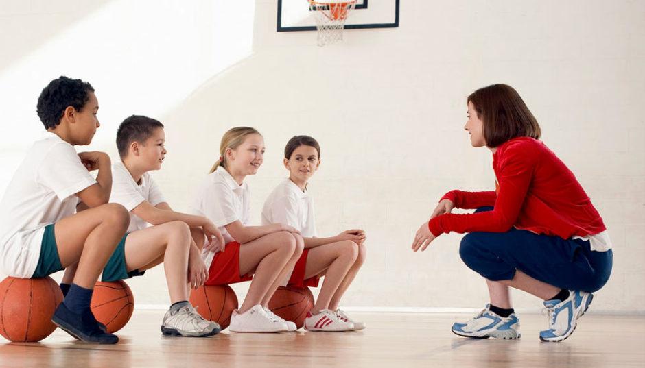 teaching basketball
